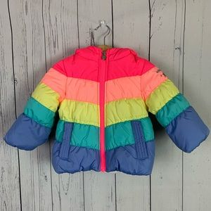 OshKosh B'gosh | rainbow puffer coat